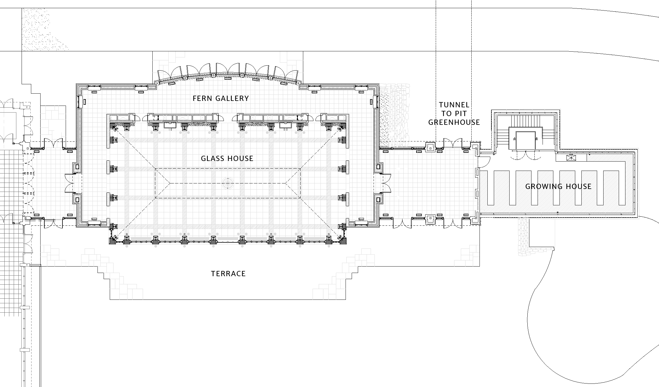Tower Hill Orangerie architectural drawing